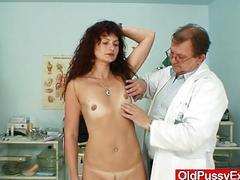 Redhead milf vagina checkup at kinky hospital