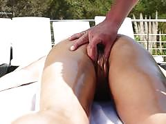 Porn pros hot and oily outdoor pussy ramming s...