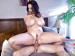 big tits, blowjob, titjob, brunette milf, santa claus hat, cock riding, mommy got boobs, brazzers, ava addams, tyler nixon