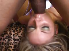 Blonde babes fuck a tiny cock as they both fight for it