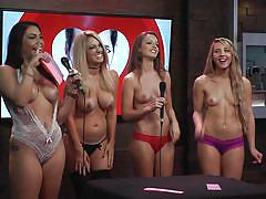 reality, busty, talking, babes, topless, playboy tv, playboy radio, morning show, morning show, playboy tv, andrea lowell, chelsie farah