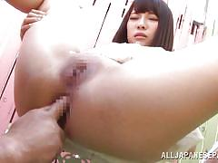 anal fingering, censored, outdoors, black hair, spread legs, japanese babe, anal nippon, all japanese pass, yuri sato