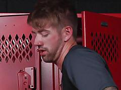 Uncontrollable passion in the locker room