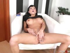 Euro slut emma mae rubbing herself