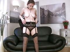 Sexy cougar erotic pussy massage