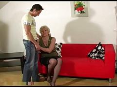 Marta horny mum spunked by youngman