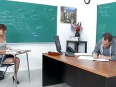 Naughty classroom girl