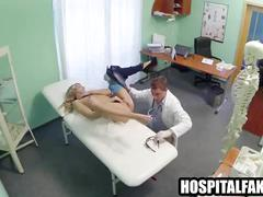 Pint sized blonde patient fucked by hers in exchange for a good hard fucking 720