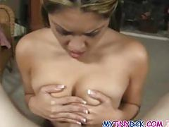 Cutie plays with his cock and gets covered in jizz