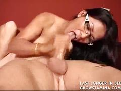 Cute asian girl got cummed on her glasses2