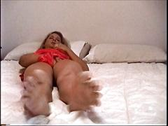 Milf has intense orgasms while rubbing her pussy