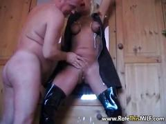 Blonde milf fucked in various positions