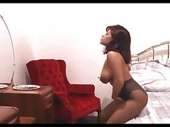 big tits, masturbation, striptease, milf, crotchless, hosiery, busty, nylons, masturbating, pantyhose