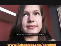 Fakeagent first time facial!
