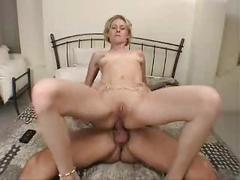 Blond girl anal fuck
