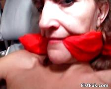 This mature slut can enjoy only if her