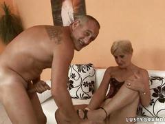 Sexy grandma enjoys hard fucking