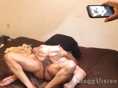 Husband films small tits blonde wife with bbc