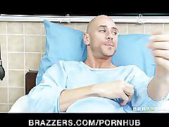 Gorgeous curvy candy striper kendall karson fucks her patient