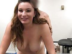 Her first anal  backroom casting couch