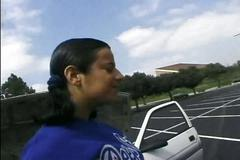 Hot latina cheerleader gets dpd!