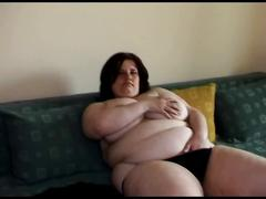 Fat obese ex gf with big tits playing with her wet pussy