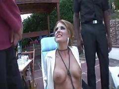 Italian whore nadia macri fucks two big cocks