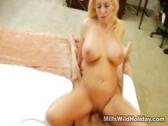 Busty milf cala works that cock