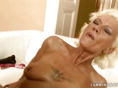 Granny riding the sybian