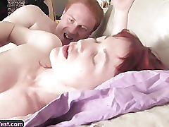 Sexy young amateur redhead gets her hairy pussy fucked and inseminated