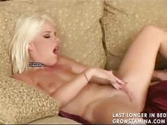 Sexy blonde with amazing body fucked
