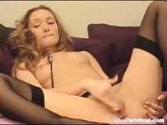 Sexy blonde fingering her pussy til she cums(7).flv