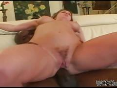 Sexy milf gets assfucked by a massive black cock
