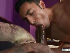 Long black cock sliding his tight ass