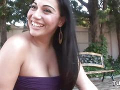 erotic, tube8.com, solo, outdoors, outside, flashing, topless, shaved, exhibitionist, pussy, thick, thighs, booty, ass