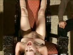 Blond girl whipped hard