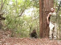 Soldier captured and edged deep in the woods