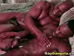 Gay black men anal fucking cumming.