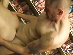 Porn addicted get fucked in sexshop