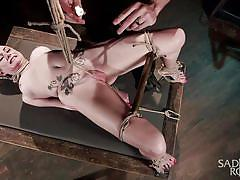 tattoo, bdsm, babe, torture, tied up, executor, rope bondage, candle wax, sadistic rope, kink, veruca james