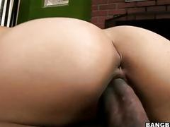 Hot asian enjoys interracial fuck