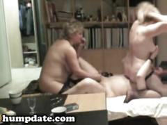 Hubby has fun with wife and female date