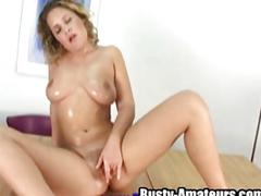 Busty anna fingering her pussy