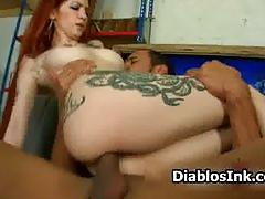 Tattooed redhead rock chick loves riding part5