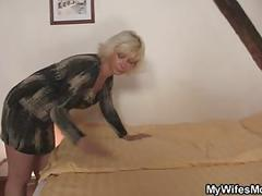 Mother in law seduces him while wife gone