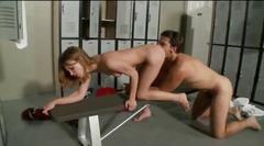 Kacey get a fuck in gymnasium