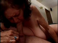Bbw granny strippes and sucks big cock