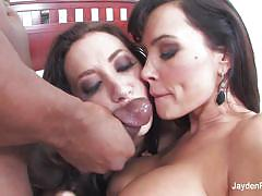 Sucking huge cock with lisa ann with jayden jaymes