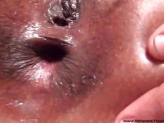 Tiny little anal used ebony milf