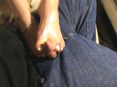 French pedicure footjob, with lots of dirty talk